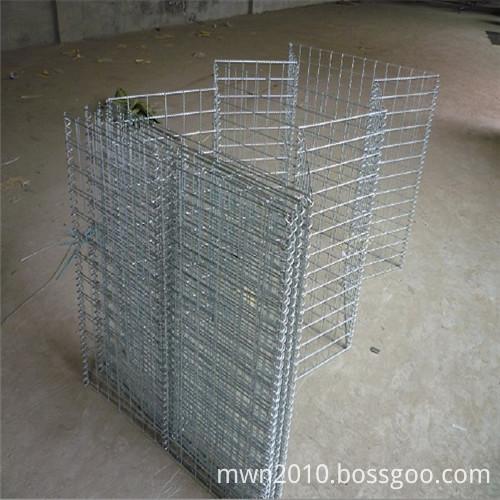 Flood control hesco fence