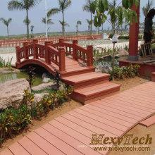 Placa plástica de madeira do Decking de WPC / ponte de madeira / plataforma marinha