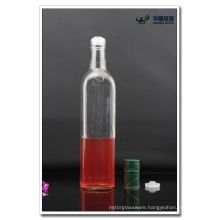 750ml Clear Square Glass Olive Oil Bottle