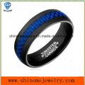 Qualitäts-Schmucksache-blauer Kohlenstoff-Faser-Wolframkarbid-Finger-Ring