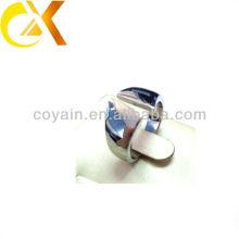 Alta pulido 316L joyería de acero inoxidable hombres anillos de dedo