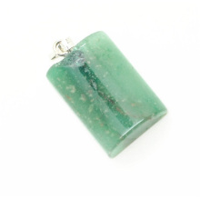 Semi Cylinder Shape Green Aventurine pendant