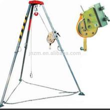 Trépied en aluminium de sécurité de délivrance de Miller d'équipement de sécurité avec le treuil de levage