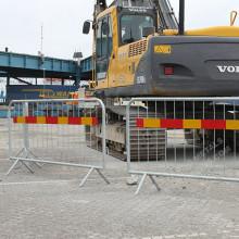 Hot Dipped Sweden Crowd Control Pedestrian Barrier