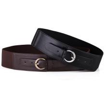Wide fashion pu elastic belt women belt