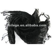 Frauen neue Unendlichkeit Kaschmir schwarz gefaltete Schals und Pashmina
