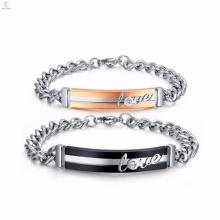 modelos de la pulsera del diseñador de las nuevas muchachas baratas de acero inoxidable para hombre