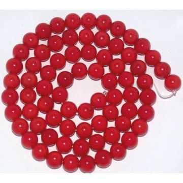 6MM Round Red Coral Gemstone Jewelry Beads
