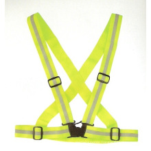 Lime Green Reflective Safety Belt with Adjustable Buckle