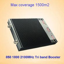 850 dcs 1800 2100MHz 27dBm repetidor de señal tri banda