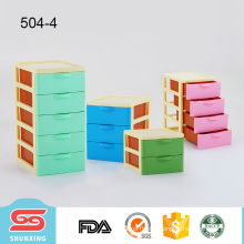 widely use desktop storage drawer plastic makeup box for sale