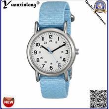 Yxl-125 Reloj de señoras de la manera de la venta caliente de la manera Vestido de la venda de cuero azul de la correa Relojes Reloj de encargo del regalo del diseño