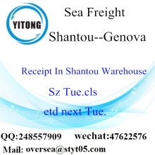 Shantou Port LCL Consolidation to Genova