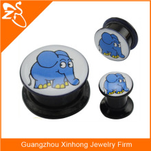 black acrylic elephant ear plugs piercing body jewelry fashion jewelry piercing acrylic fashion jewelry