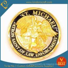 Kundenspezifische Zink-Legierungs-Goldfinish-Andenken-Münzen (KD-0027)