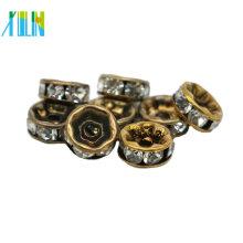 Günstige Bulk Großhandel Alle Größe Bronze Metall Rondelle Spacer Perlen für Schmuck machen