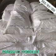 ISO, BV Approved food grade potassium hydroxide in white flakes