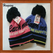 Moda personalizada Jacquard Logo Knitted Cap