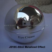 Tarro de 50ml crema de forma brillante bola de plata