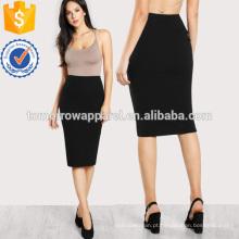 Elastic Waist Pencil Skirt Fabricação Atacado Moda Feminina Vestuário (TA3066S)