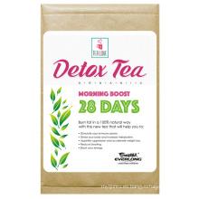 Té herbario orgánico del Detox que adelgaza el té de la pérdida del peso del té (té del impulso de la mañana de 28 días)