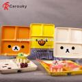 Kundenspezifische Kinder reizende keramische Nahrungsmittelzufuhrplatte