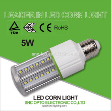 SNC IP64 llevó la luz de bulbo del maíz de la luz del maíz LED / E27 ENEC TUV CE RoHS 5W