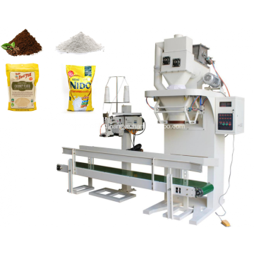 Embalagem quantitativa semi-helicoidal para materiais em pó