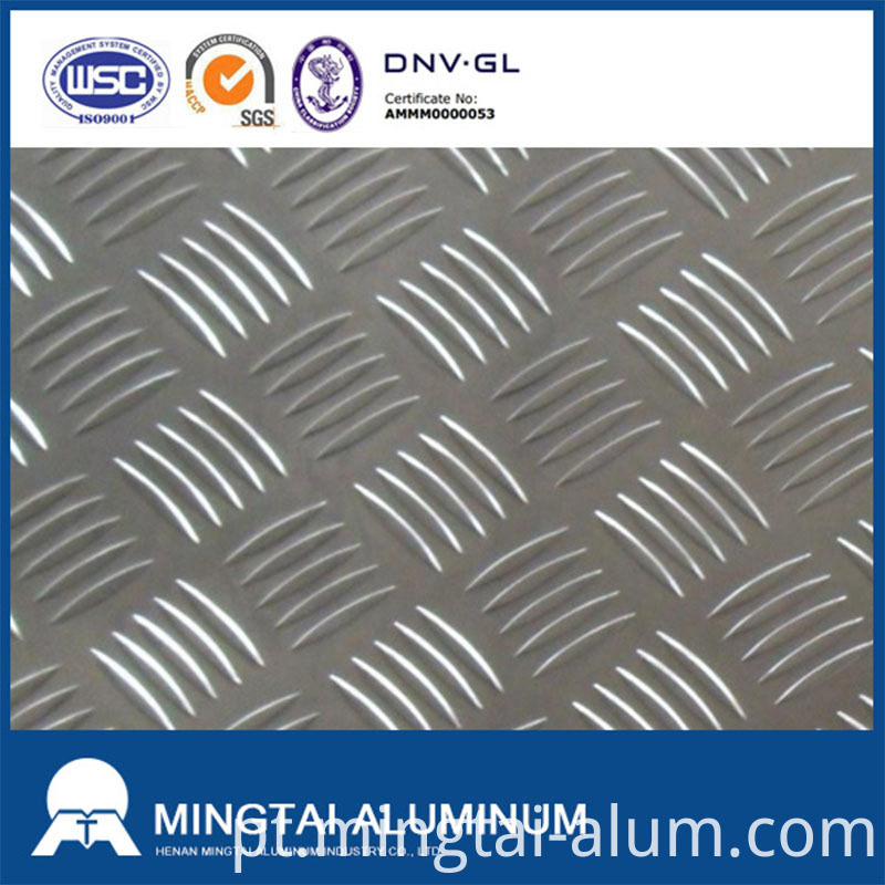 five bars aluminum tread plates