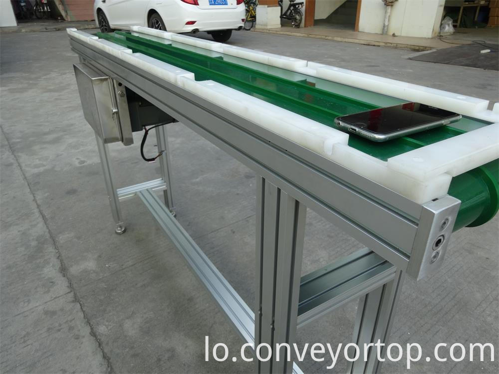 PVC belt conveyors with blocks