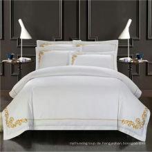 100% Baumwolle bestickt hochwertige Bettwäsche-Set für Zuhause / Hotel Bettwäsche-Set