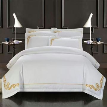 100% Cotton Embroidered High Quality Bedding Set for Home/Hotel Bedding Set