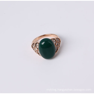 Fashion Jewelry Ring with Green Stone