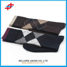 Fashion American apparel knee high sock/Casual Dri-FIT argyle patterned crew socks