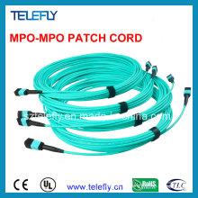 MPO cable de cable de parche de fibra óptica
