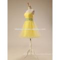2017 New Fashion Alibaba Yellow Color Tulle Formal Gowns Evening Dress In China