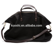Wholesale sac de voyage en toile avec garniture en cuir