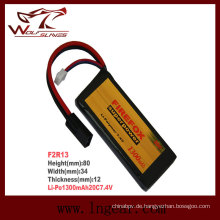 Firefox 7.4V 1300mAh Lipo Li-Polymer Square Batterie 20 c