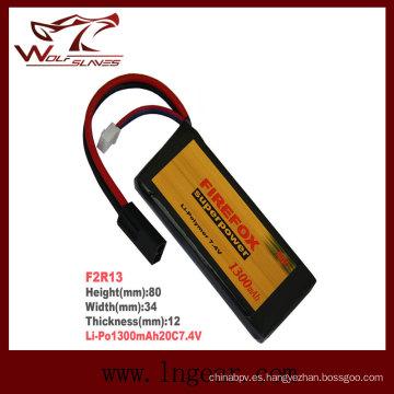 Firefox 7.4V 1300mAh batería de Li-Po Li-Polymer Plaza 20 c