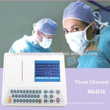 3-Kanal-EKG-Monitor, Elektrokardiographie, Elektrokardiograph Ecg Monitor (MSLEC18-N)