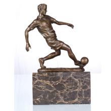 Figura Deportiva Jugador De Fútbol Home Deco Escultura De Bronce Estatua TPE-737