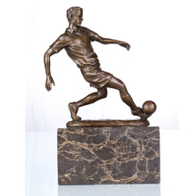Sports Figure Football Player Home Deco Bronze Sculpture Statue TPE-737
