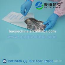 Medizinische Tasche mit Seitenfalten / Sterilisation bedruckt