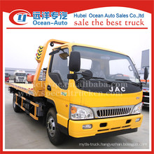 JAC 3TON lift weight euro 4 new cheap road wrecker tow trucks sale