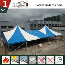 Напольный высокий пик синий и белый цвет карт шатер цирка для Сбывания