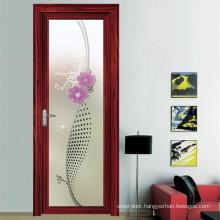 Powder coated aluminum alloy modern design aluminium toilet door