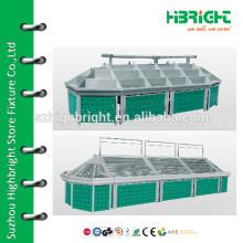 supermarket stainless steel vegetable racks