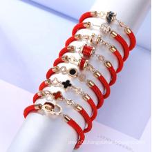 UNIQ Elegant Gold Plated Red Rope Bracelet for Gift Designer Bracelet Famous Brand