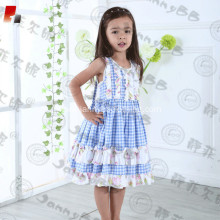 custom printed flower dress checked toddler dress