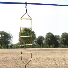 Outdoor-Spielplatz Einköpfige Kletter-Holzseilleiter